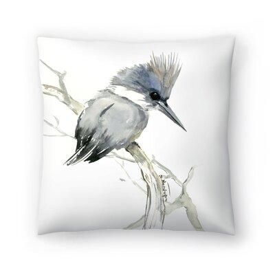 Suren Nersisyan Belted Kingfisher 2 Throw Pillow Size: 16 x 16