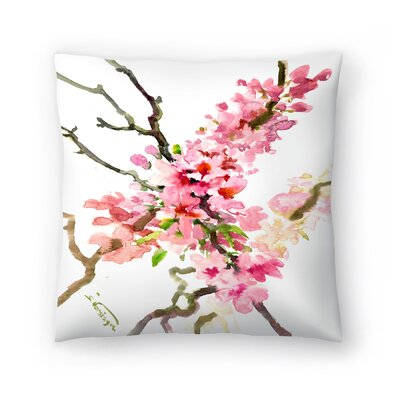 Suren Nersisyan Cherry Blossom, Sakura 3 Throw Pillow Size: 18 x 18