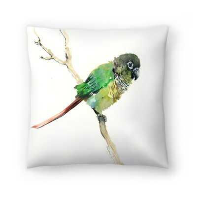 Suren Nersisyan Conure Parakeet Parrot Throw Pillow Size: 16 x 16