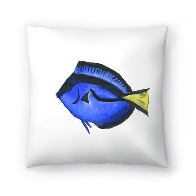 Suren Nersisyan Fish Angelfish Suren 1 Throw Pillow Size: 18 x 18