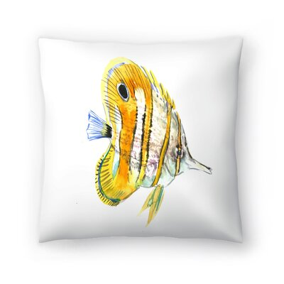 Suren Nersisyan Fish Angelfish Suren 2 Throw Pillow Size: 20 x 20