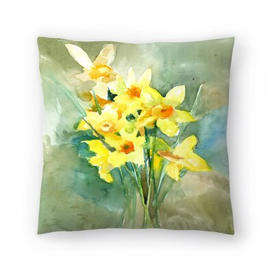 Suren Nersisyan Daffodil Throw Pillow Size: 18 x 18