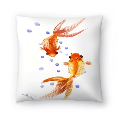 Suren Nersisyan Feng Shui fish Koi 1 Throw Pillow Size: 14 x 14