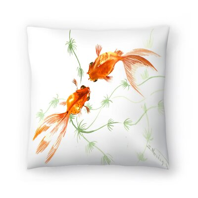 Suren Nersisyan Feng Shui fish Koi 2 Throw Pillow Size: 16 x 16