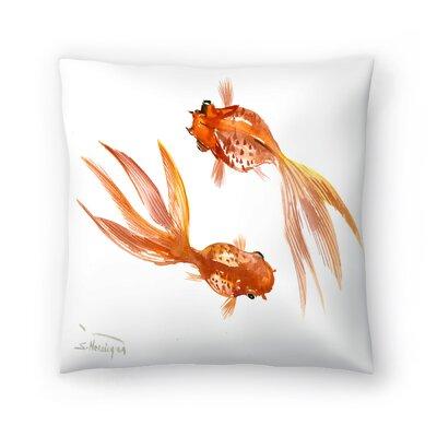 Suren Nersisyan Feng Shui fish Koi 3 Throw Pillow Size: 14 x 14