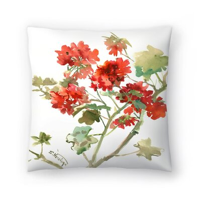 Suren Nersisyan Geranium 2 Throw Pillow Size: 16 x 16