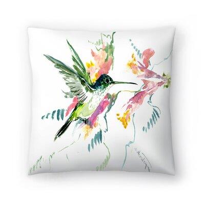 Suren Nersisyan Hummingbird Throw Pillow Size: 18 x 18