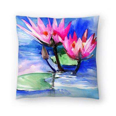 Suren Nersisyan Lotuses 3 Throw Pillow Size: 16 x 16