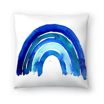 Paula Mills Big Rainbow Throw Pillow Size: 18 x 18