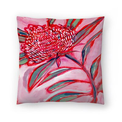 Paula Mills Botanicle No1 Throw Pillow Size: 18 x 18