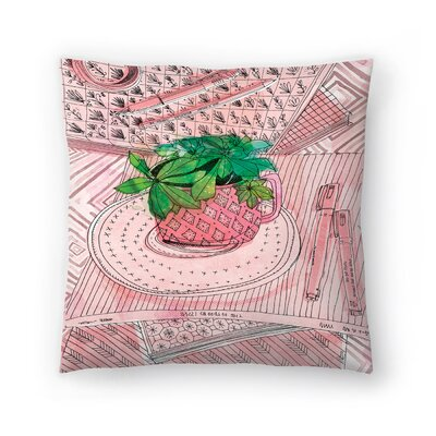 Paula Mills My favourite Mug Throw Pillow Size: 18 x 18