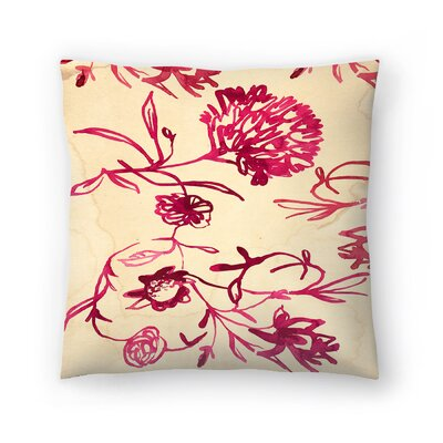 Paula Mills Floral Pattern Throw Pillow Size: 18