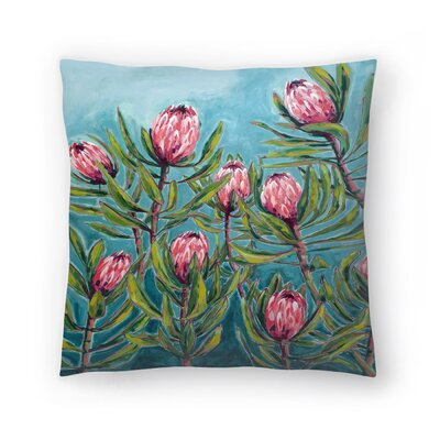Paula Mills Protea Painting Throw Pillow Size: 18 x 18