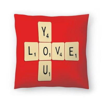 Florent Bodart Love You Bodart Throw Pillow Size: 14 x 14