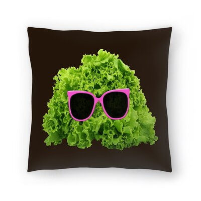 Florent Bodart Mr Salad Throw Pillow Size: 16 x 16