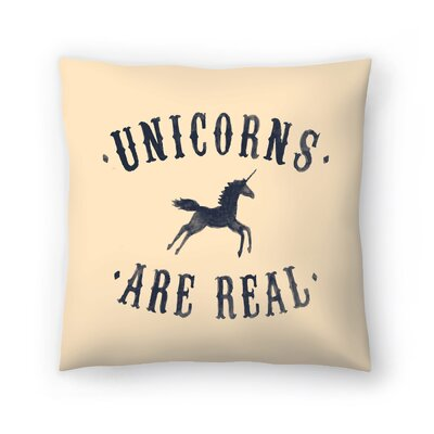 Florent Bodart Unicorns are Real Il Throw Pillow Size: 18 x 18