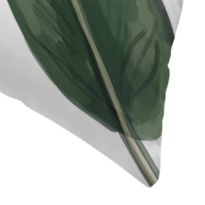 Jetty Printables Banana Leaf Painting Throw Pillow Size: 18 x 18