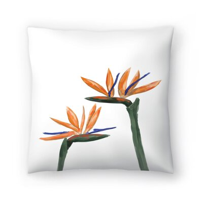 Jetty Printables Birds of Paradise Peekaboo Throw Pillow Size: 20 x 20