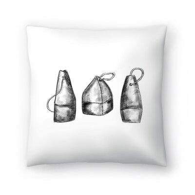 Jetty Printables Buoy Illustration Throw Pillow Size: 16 x 16
