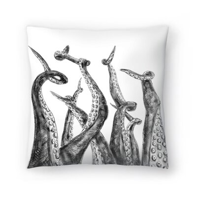 Jetty Printables Octopus Tentacle Illustration Throw Pillow Size: 18