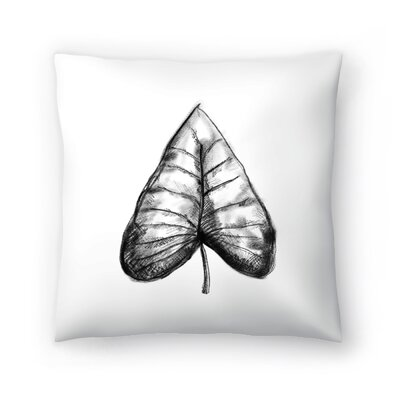 Jetty Printables Palm Leaf Illustration Throw Pillow Size: 20 x 20