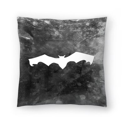 Jetty Printables Bat Halloween Throw Pillow Size: 18 x 18
