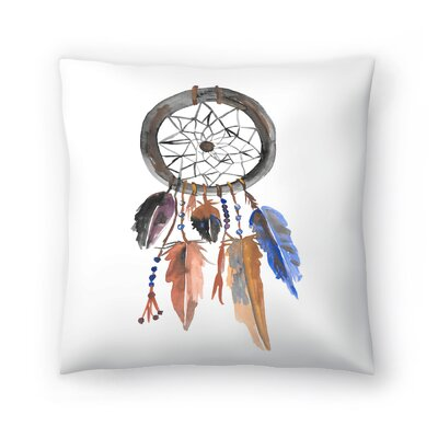 Jetty Printables Tribal Dreamcatcher Throw Pillow Size: 16 x 16