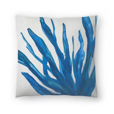 Jetty Printables Watercolor Seaweed Painitng 1 Throw Pillow Size: 16 x 16