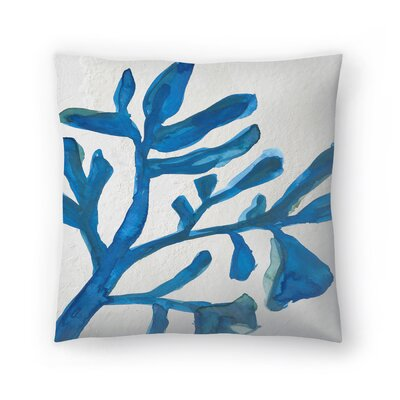 Jetty Printables Watercolor Seaweed Painitng 3 Throw Pillow Size: 16 x 16