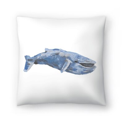 Jetty Printables Whale 01 Throw Pillow Size: 14 x 14