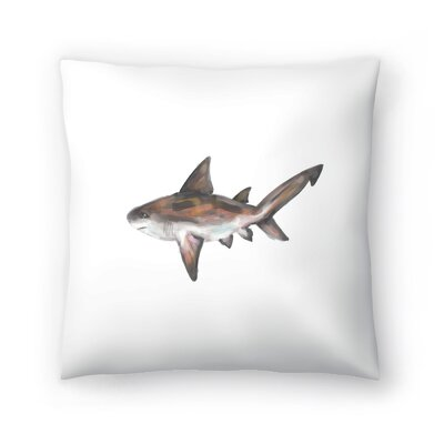 Jetty Printables Bull Shark Single Painting Throw Pillow Size: 18 x 18