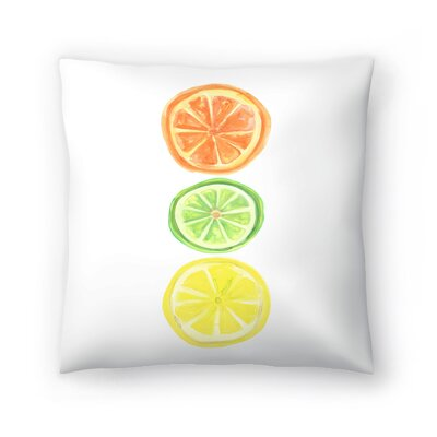 Jetty Printables Citrus Trio Throw Pillow Size: 20 x 20