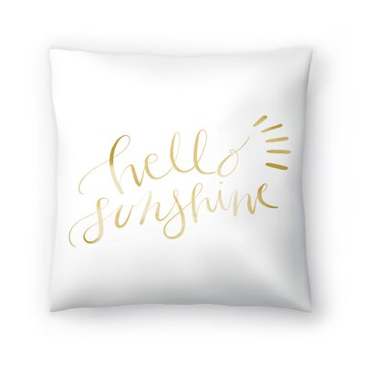 Jetty Printables Hello Sunshine Typography Throw Pillow Size: 20 x 20