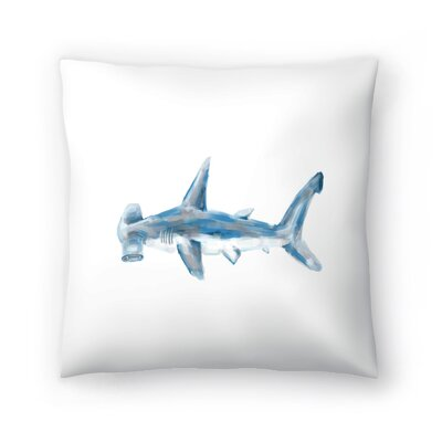 Jetty Printables Hammerhead Shark Art Throw Pillow Size: 16 x 16