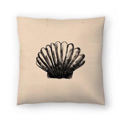 Jetty Printables Illustrated Sea Shell 3 Throw Pillow Size: 14 x 14