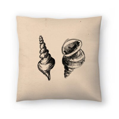 Jetty Printables Illustrated Sea Shell Duo Throw Pillow Size: 20 x 20