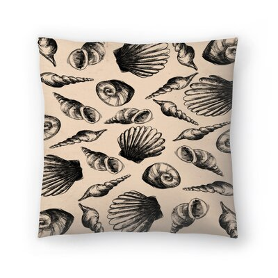 Jetty Printables Illustrated Sea Shell Pattern Throw Pillow Size: 14 x 14