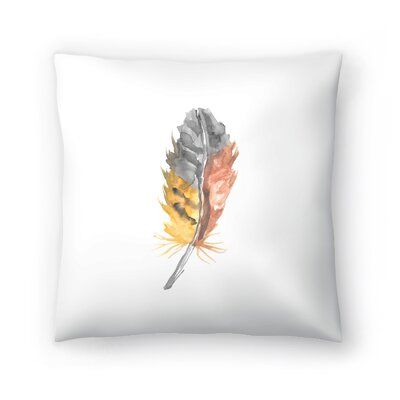 Jetty Printables Nursery Watercolor Feather Throw Pillow Size: 18 x 18
