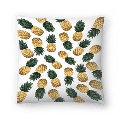 Jetty Printables Pineapple Throw Pillow Size: 18 x 18