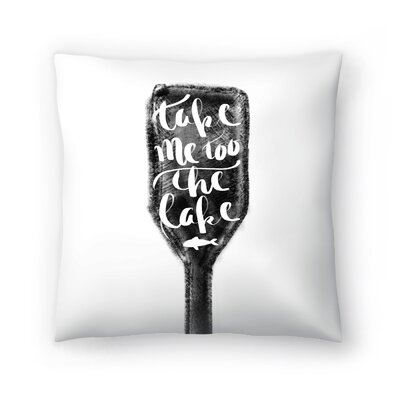 Jetty Printables Take Me to the Lake Illustrated Art Throw Pillow Size: 16 x 16
