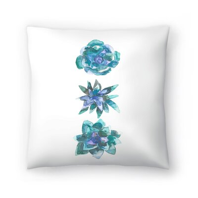 Jetty Printables Watercolor Succulent Trio Throw Pillow Size: 16 x 16