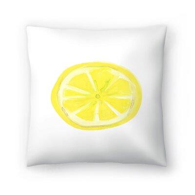 Jetty Printables Watercolor Lemon Slice Throw Pillow Size: 14 x 14