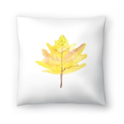 Jetty Printables Watercolor Leaf Throw Pillow Size: 18 x 18