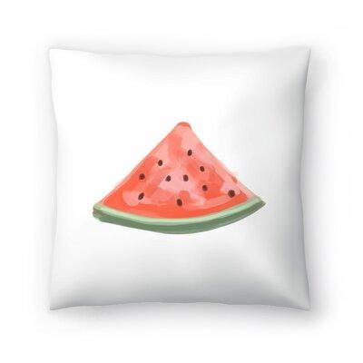 Jetty Printables Watermelon Slice Throw Pillow Size: 18 x 18