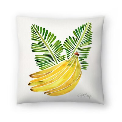 Cat Coquillette Banana Bunch Throw Pillow Size: 16 x 16