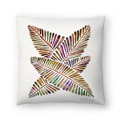 Cat Coquillette Banana Leaves Vintage Throw Pillow Size: 16 x 16