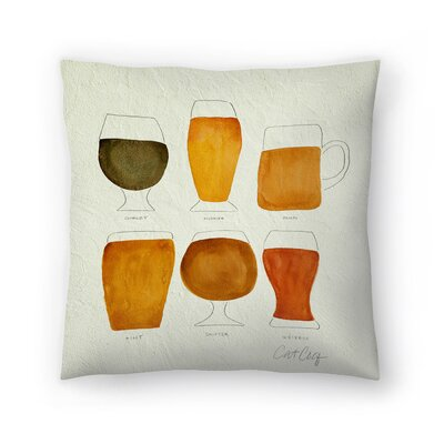 Beer Throw Pillow Size: 18 x 18