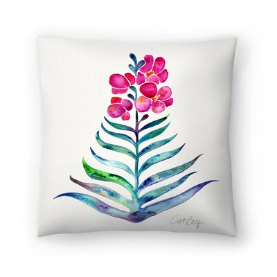 Blooming Orchid Throw Pillow Size: 18 x 18