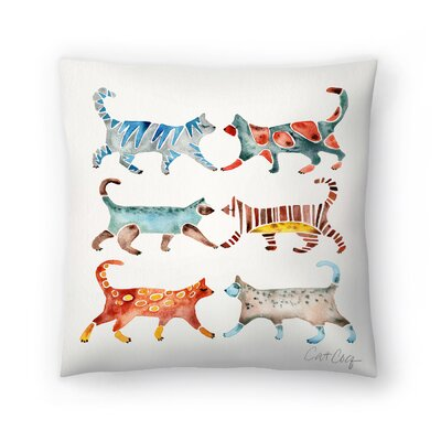 Cat Coquillette Cat Collection Throw Pillow Size: 16 x 16