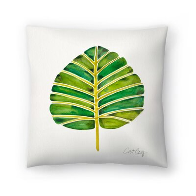 Cat Coquillette Elephant Ear Alocasia Throw Pillow Size: 16 x 16